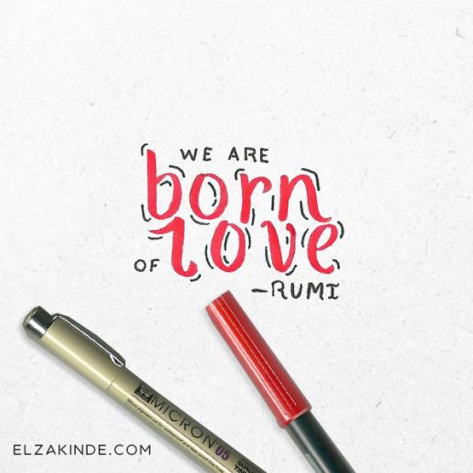 lettering2016-rumi-bornoflove