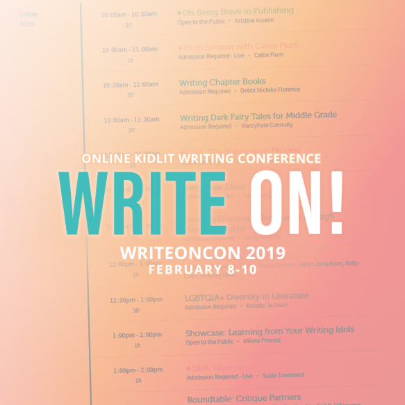 WriteOnCon 2019: an online kidlit writing conference