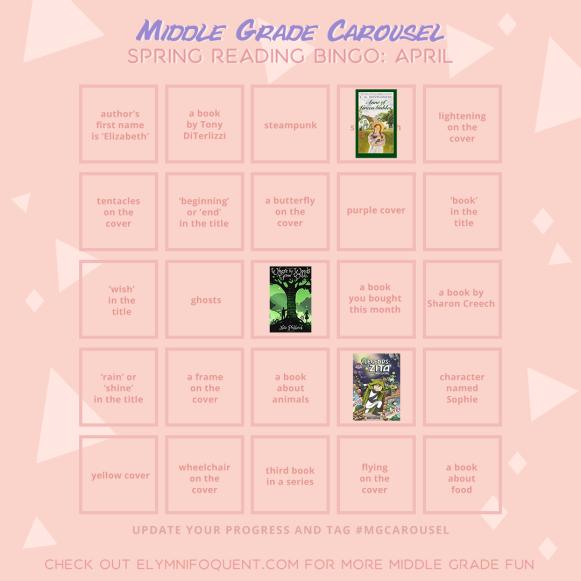 Middle Grade Carousel bingo board