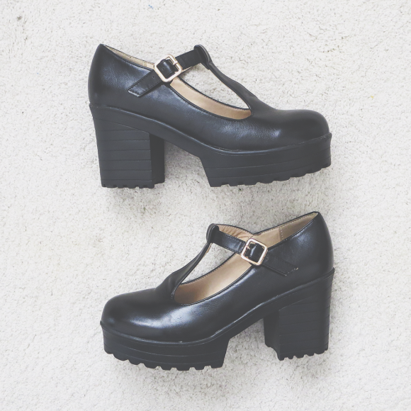 Platform mary jane heels from Suzanny