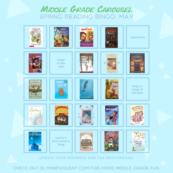 Elza's Spring Reading Bingo board for May