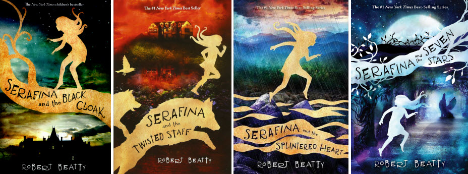 Covers from the Serafina book series by Robert Beatty