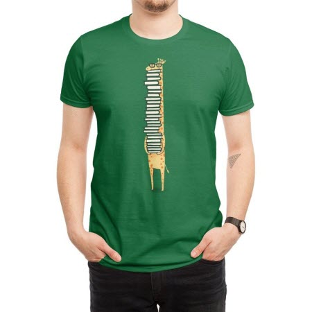 T-Shirt: giraffe holding a large stack of books under their chin