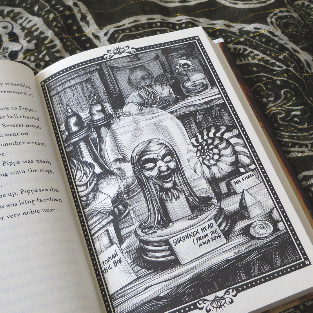 Illustration from Curiosity House Book 1: The Shrunken Head by Lauren Oliver & H. C. Chester