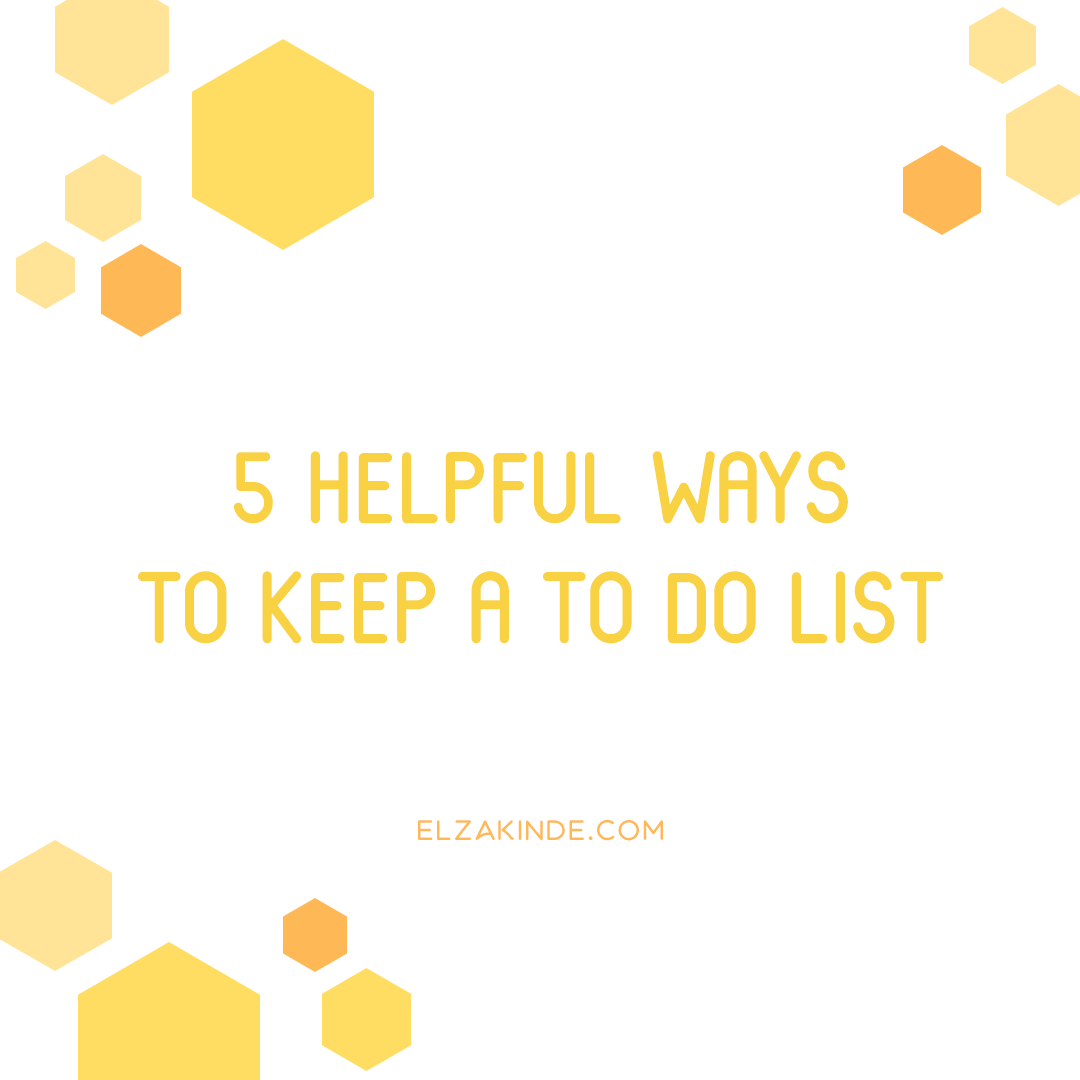5 Helpful Ways to Keep a To Do List