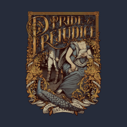 T-Shirt featuring Pride and Prejudice artwork