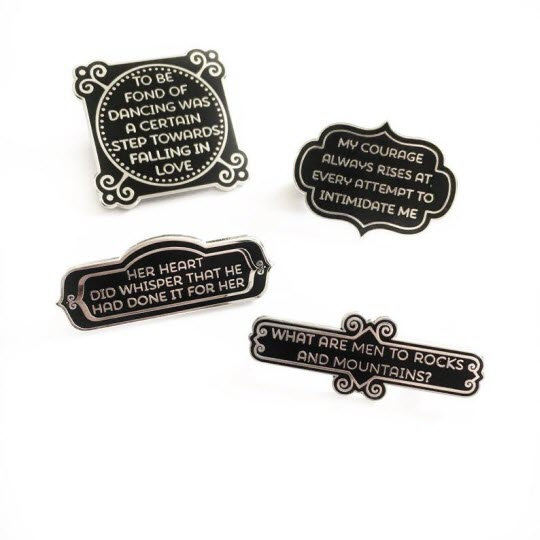 Set of 4 Pins: