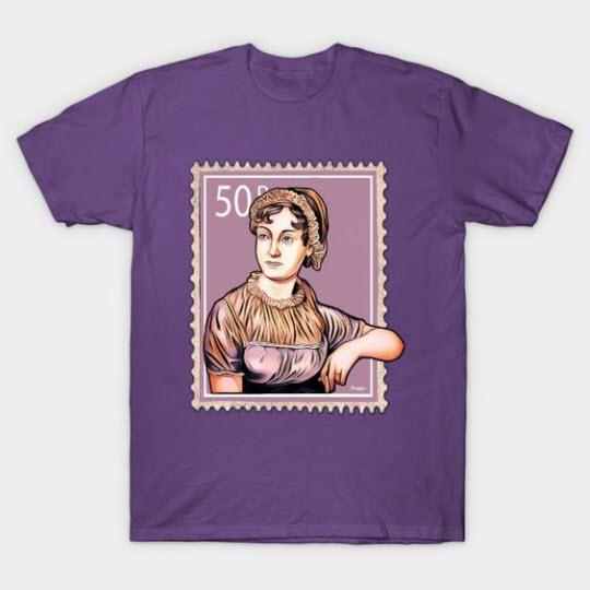 T-Shirt featuring artwork of Jane Austen