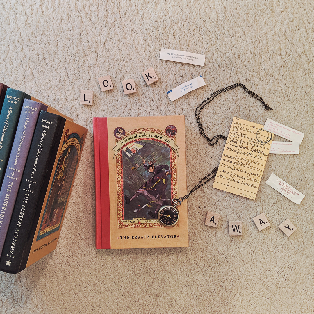 Bookstagram photo featuring A Series of Unfortunate Events book 6, The Ersatz Elevator by Lemony Snicket
