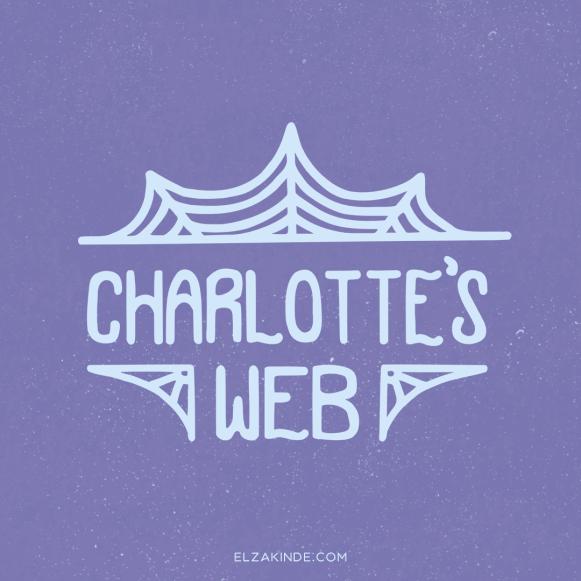 """""""Charlotte's Web"""" lettering by Elza Kinde"""