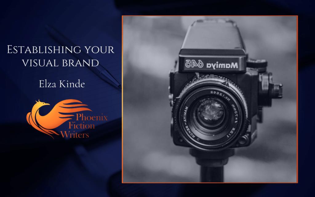 """Establishing Your Visual Brand"" Guest Blog Post Header from phoenixfictionwriters.com"