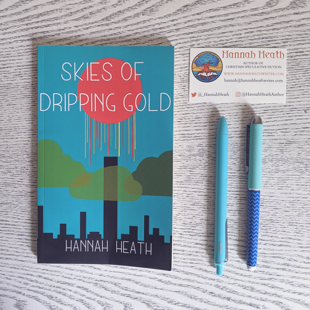 Bookstagram photo featuring Skies of Dripping Gold by Hannah Heath