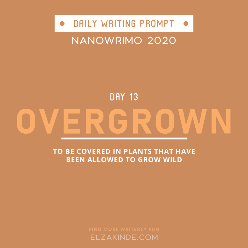 Daily Writing Prompt Day 13: OVERGROWN | To be covered in plants that have been allowed to grow wild.