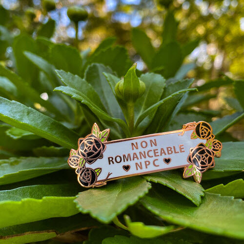 Non Romanceable NPC enamel pin by Azure Verie