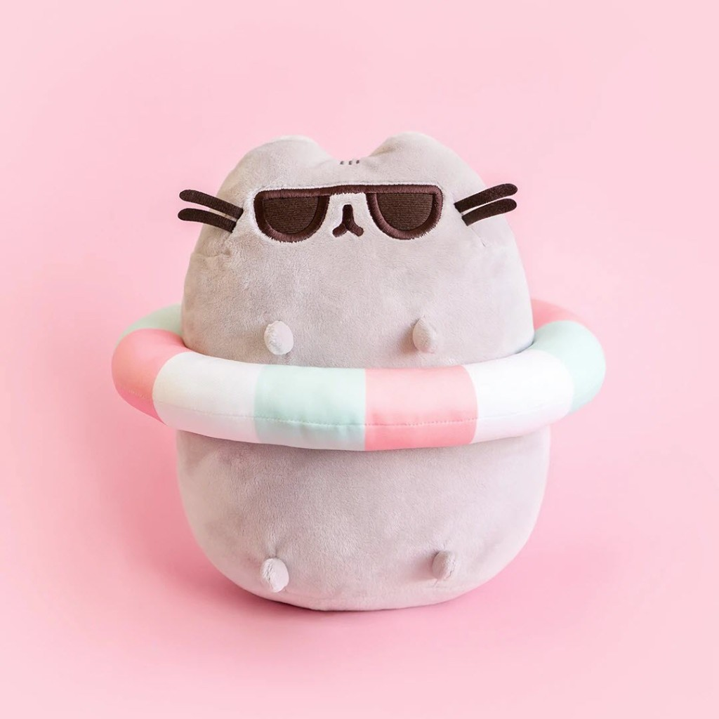 Pusheen plush with sunglasses and an inner tube