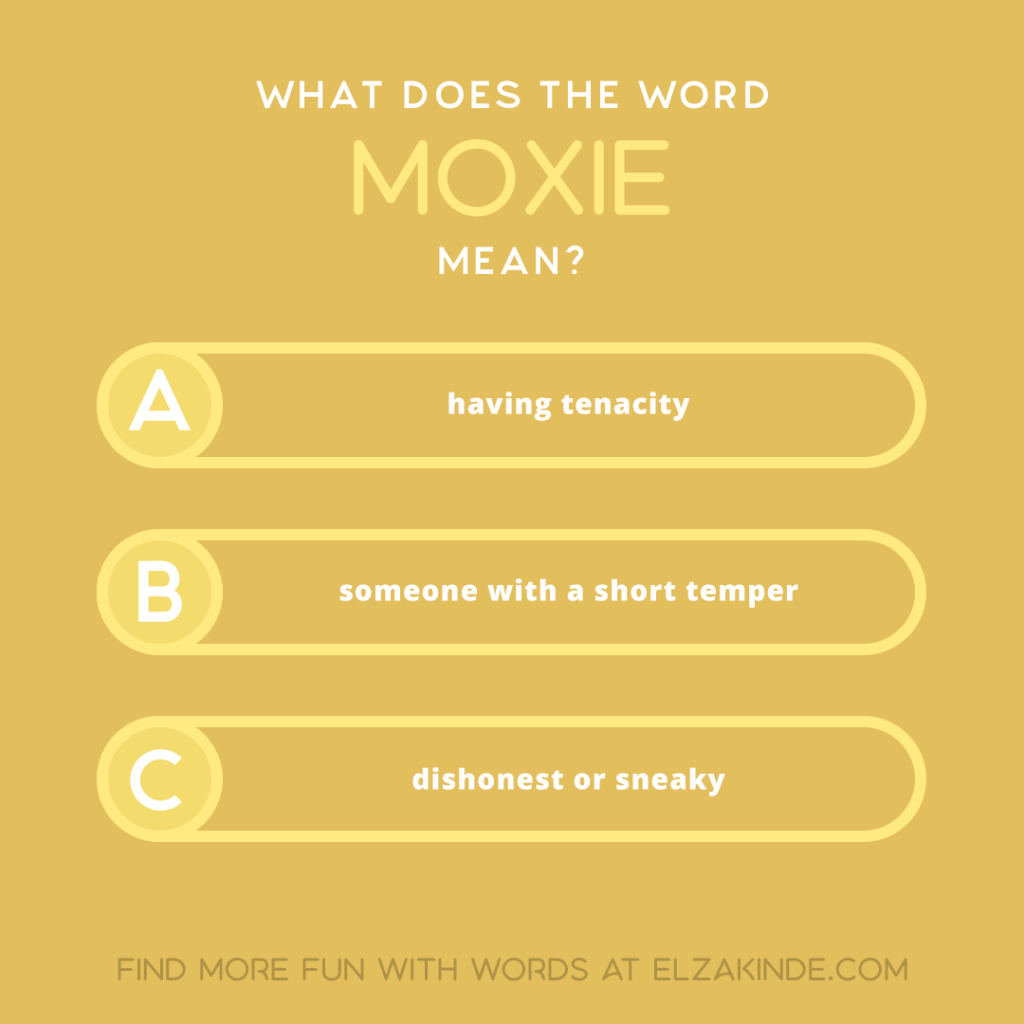 what does the word MOXIE mean?