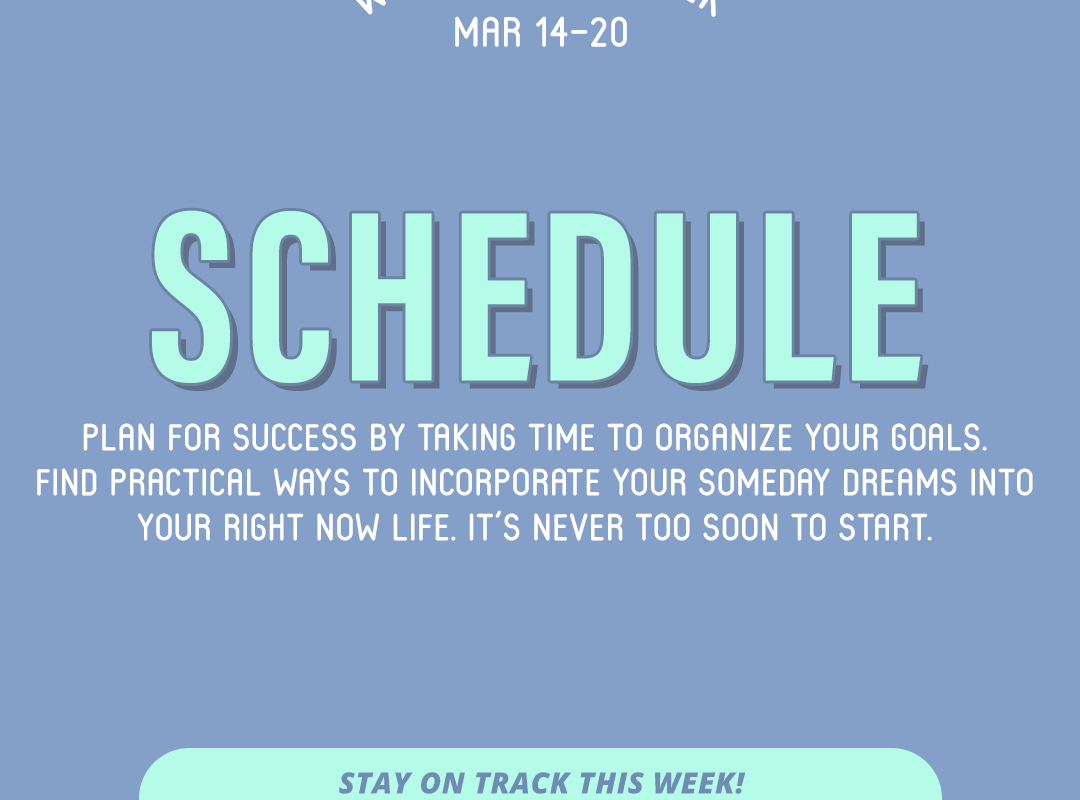 Word of the Week March 14-20: Schedule