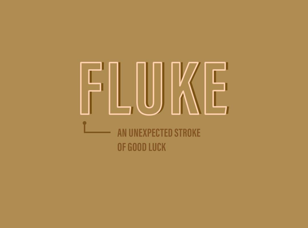 Fluke: an unexpected stroke of good luck