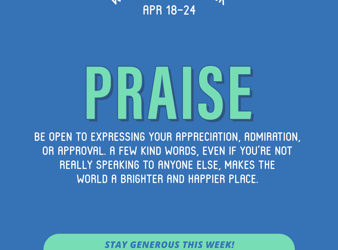 Word of the Week April 18-24: Praise