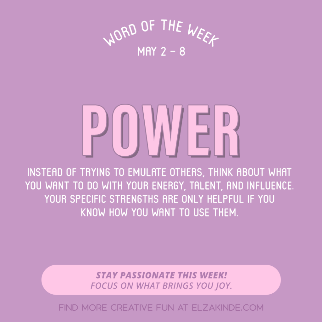 Word of the Week May 2-8: Power