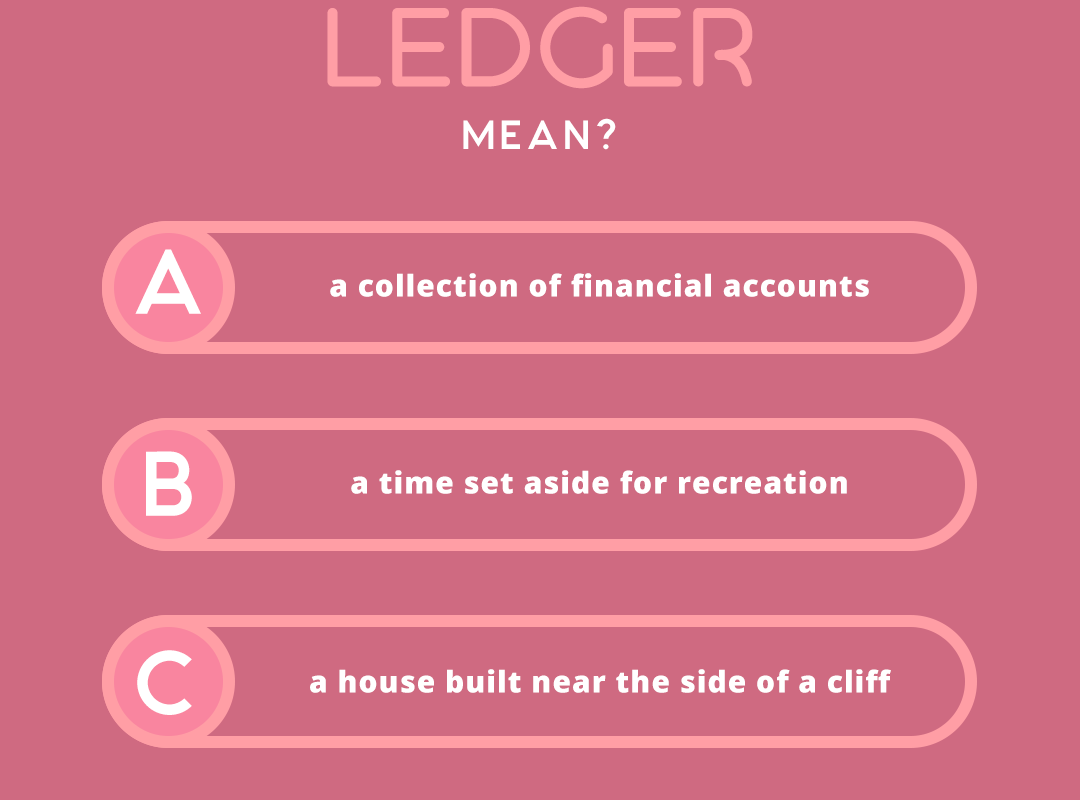what does the word LEDGER mean?