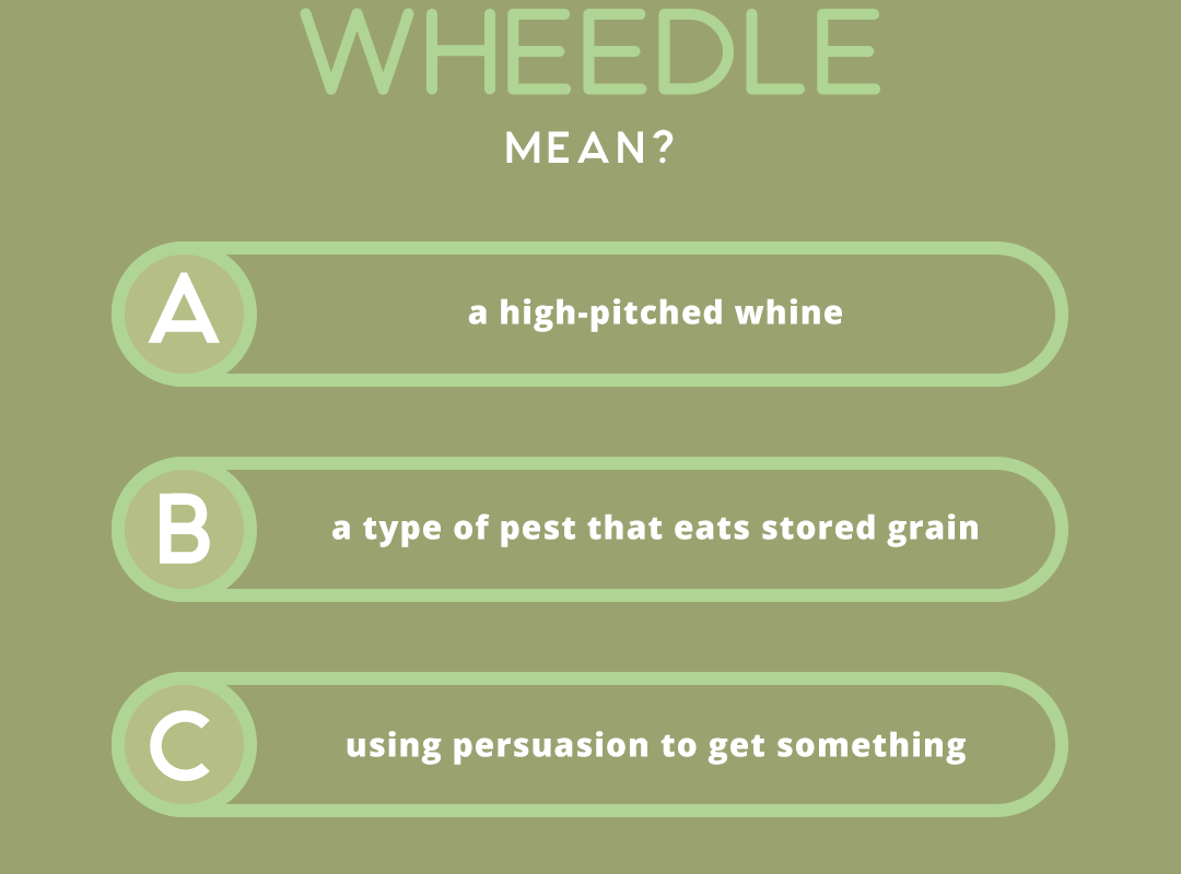 what does the word WHEEDLE mean?