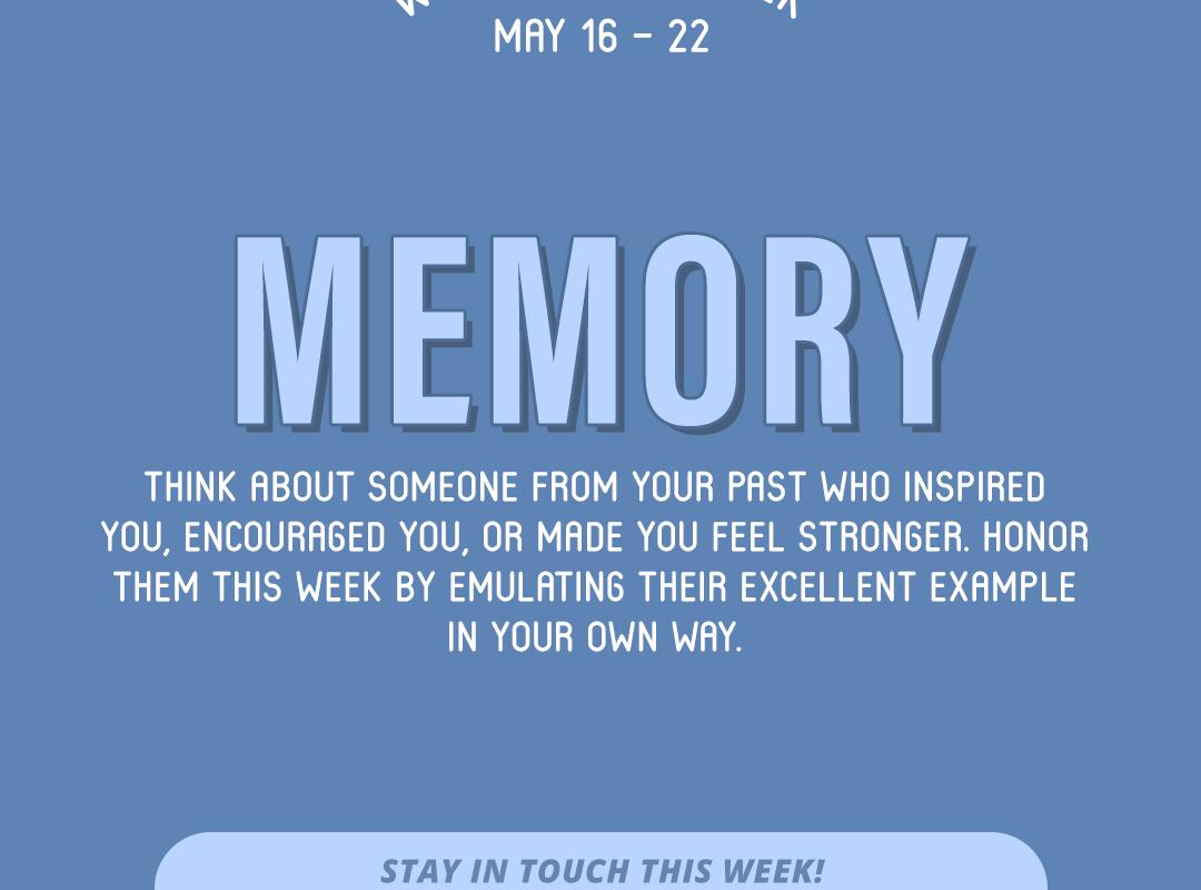 Word of the Week May 16-22: Memory