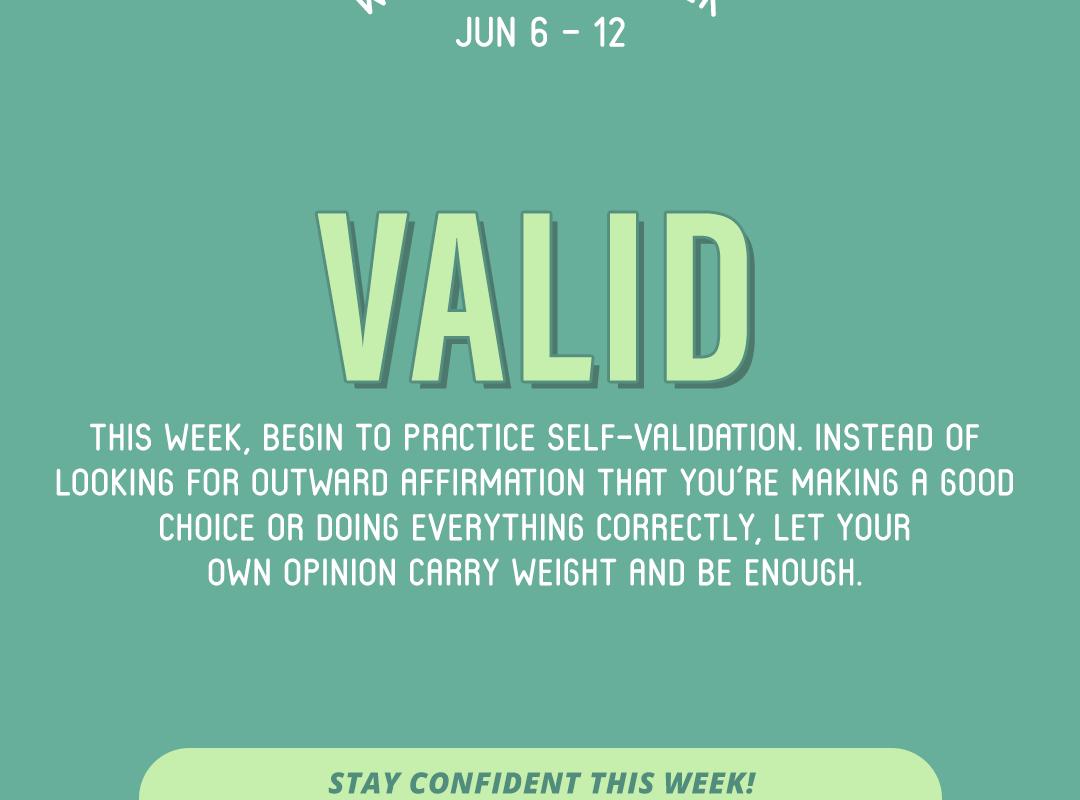 Word of the Week June 6-12: Valid