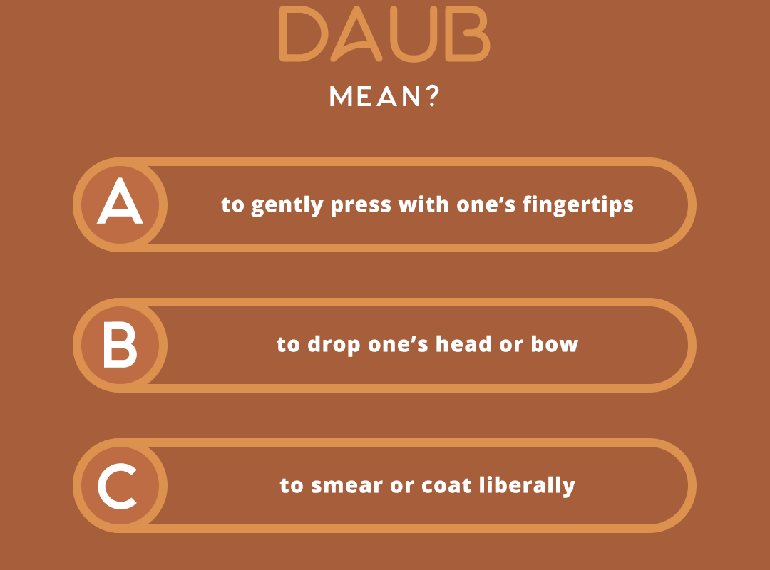 what does the word DAUB mean?