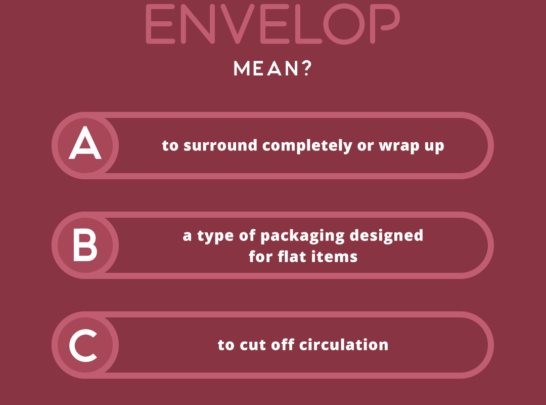 what does the word ENVELOP mean?