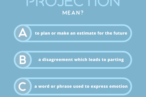what does the word PROJECTION mean?