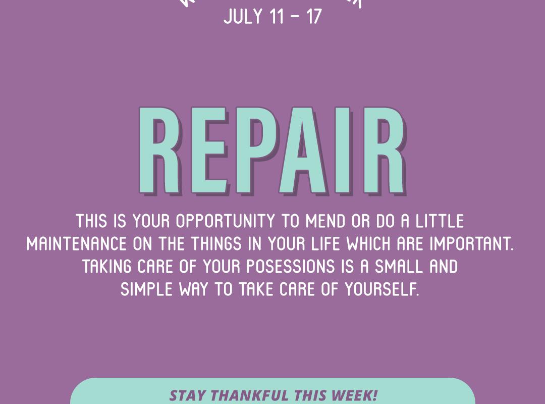 Word of the Week July 11-17: Repair