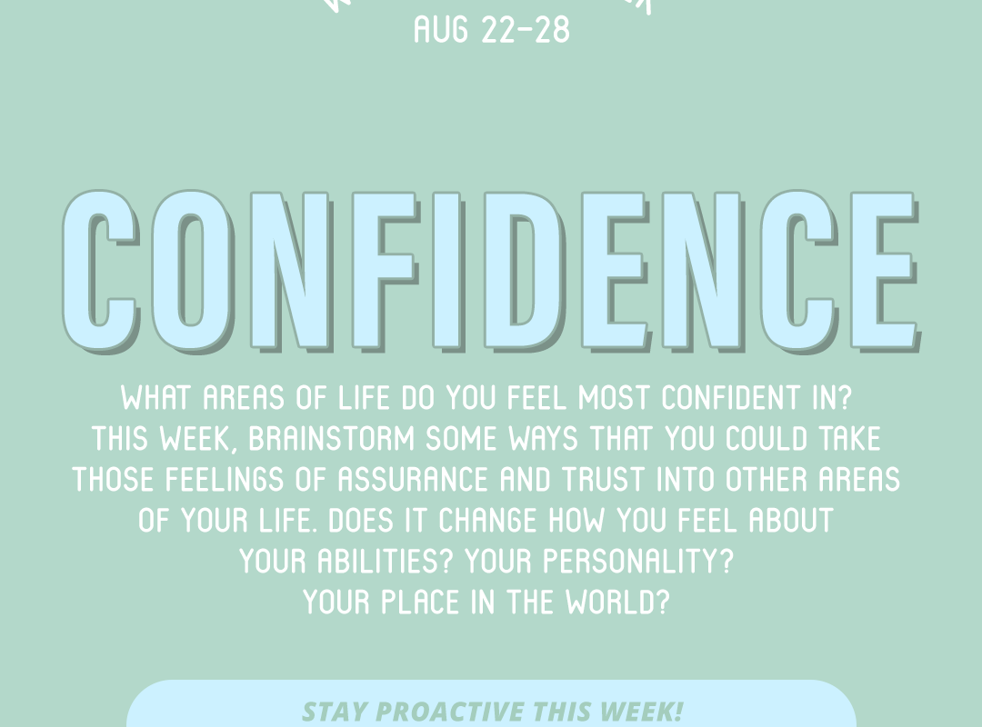 Word of the Week August 22-28: Confidence