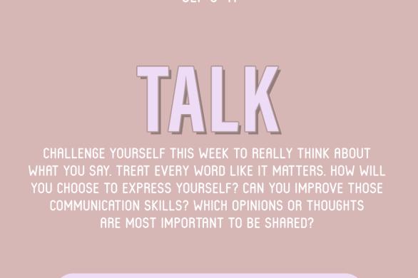 Word of the Week September 5-11: Talk