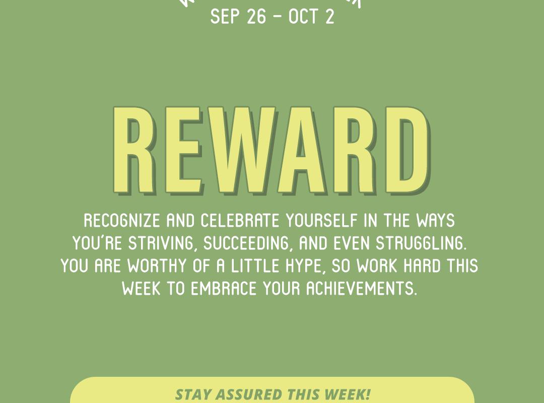 Word of the Week September 26-October 2: Reward